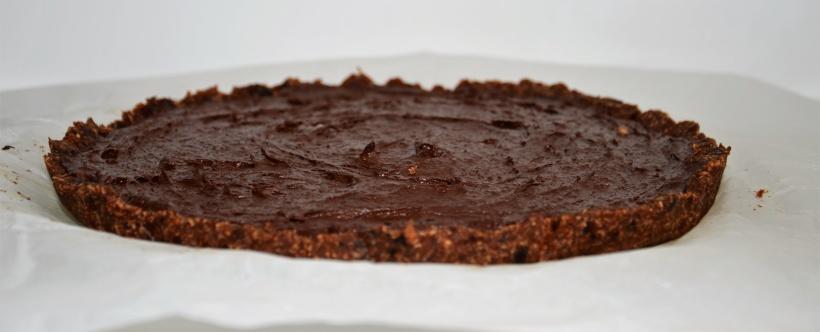 Rohe Schokoladen-Bananen-Tarte
