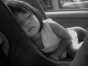 Schlafen Autositz